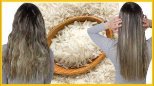 Alisado con arroz y aceite de coco